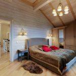 Фото спальни в деревянно доме