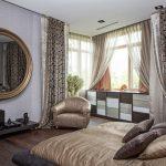 Портьеры в дизайне классической спальни
