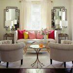 Два зеркала в интерьере гостиной
