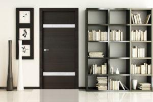 Сочетание шкафа с межкомнатной дверью