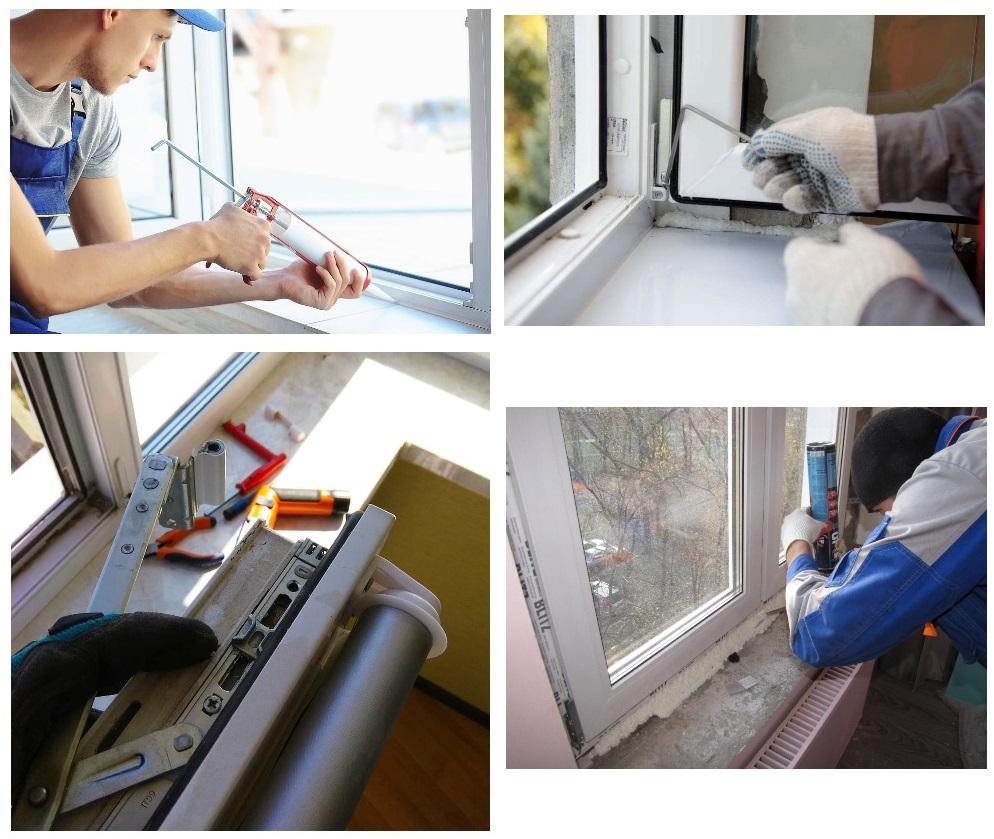 ремонт створки пластикового окна
