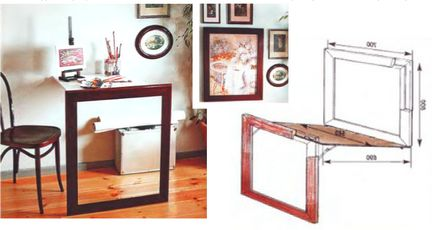 Раскладной стол как элемент декора