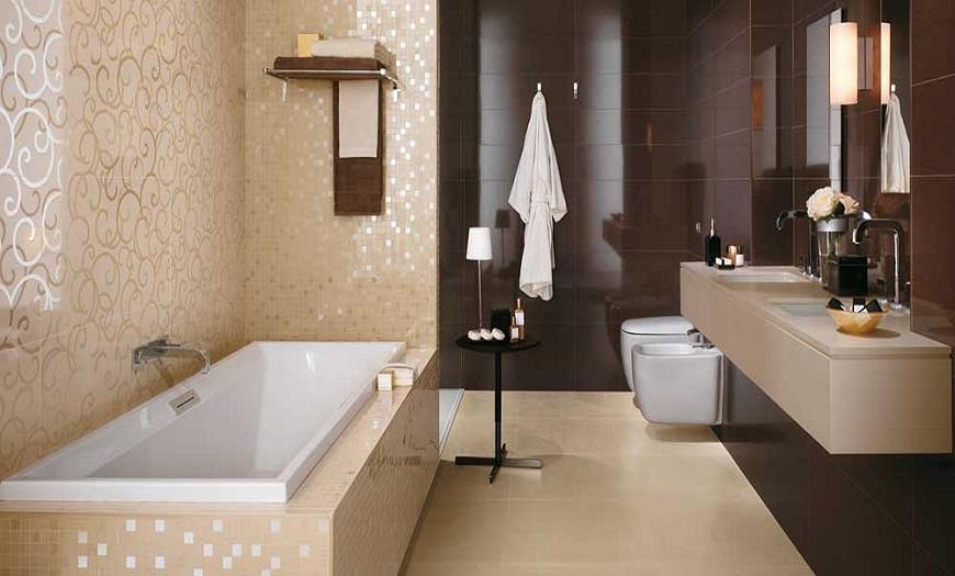 коричневые цвета ванной комнаты