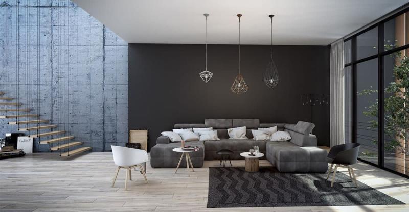 Черная гостиная 18 м 3
