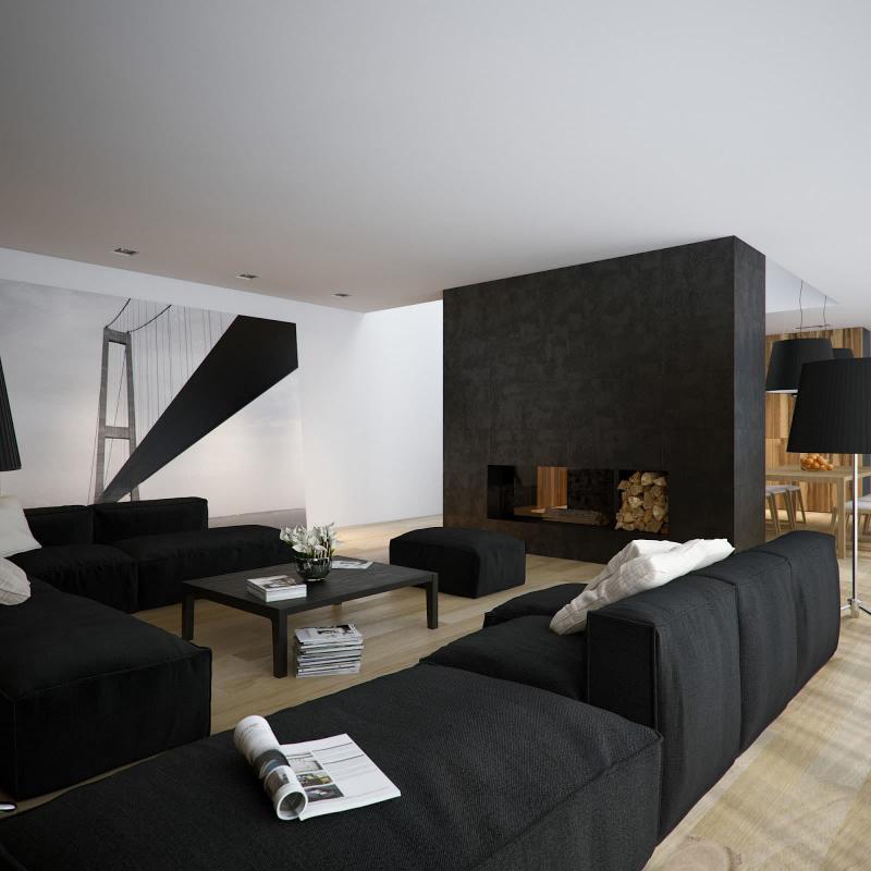 Черная гостиная 18 кв.м. 4
