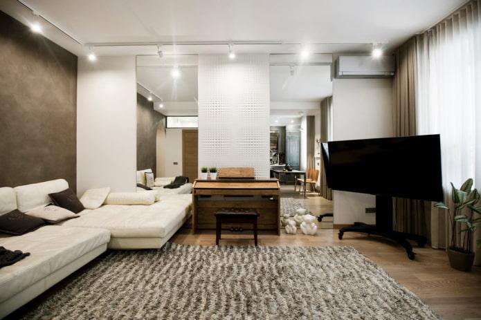 Интерьер гостиной площадью 18 квадратов