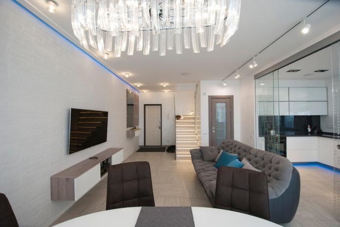 18 м² Интерьер гостиной