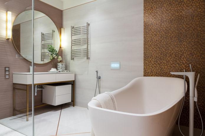белые краны в ванной комнате