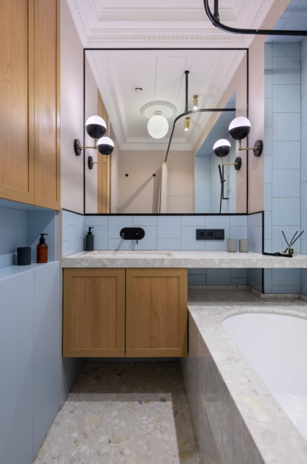 пастельные тона для ванной комнаты