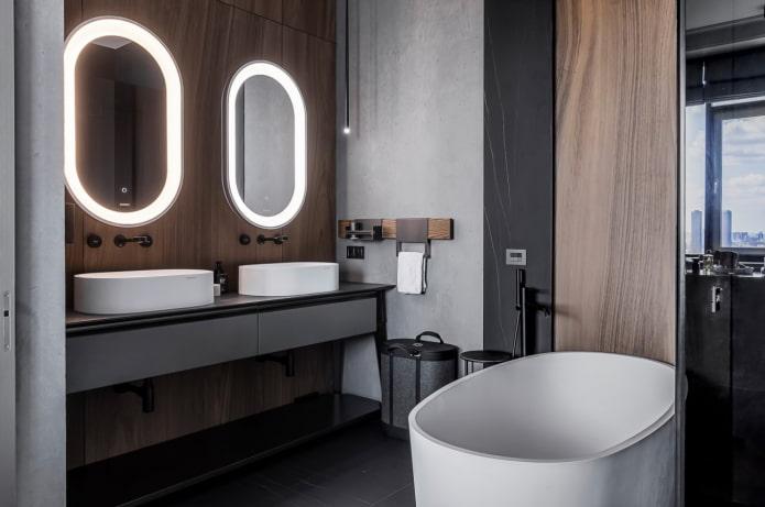 ванная комната в японском стиле.