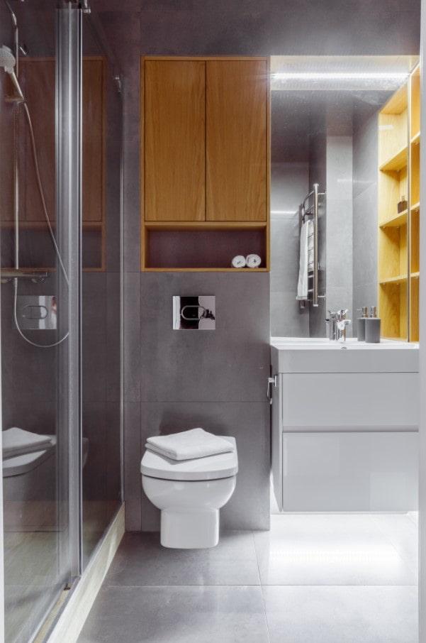 напольное освещение в ванной комнате