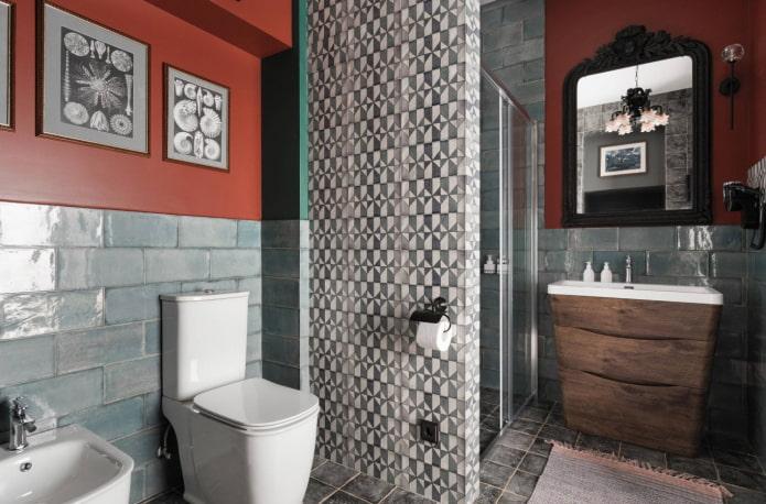 красочная ванная комната