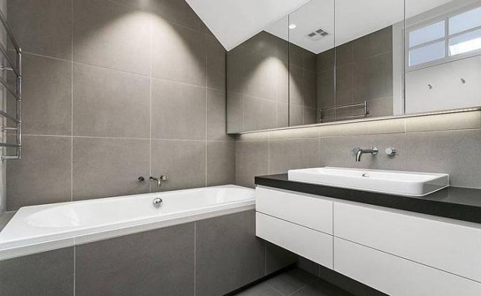 минималистская ванная комната
