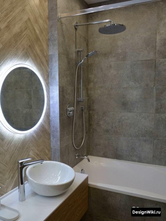 дизайн ванной комнаты с умывальником с чашей