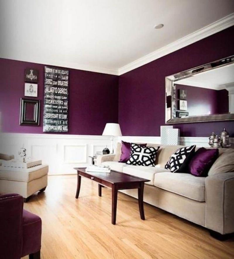 Фиолетовая гостиная 18 м 2