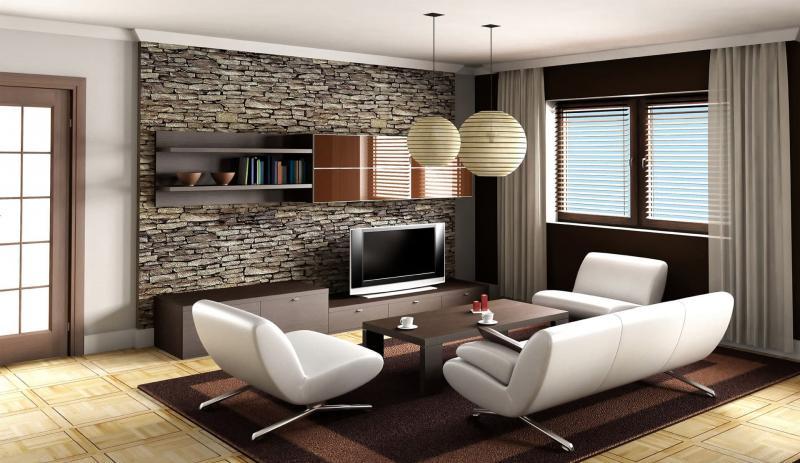 Гостиная 18 м² современный стиль 1