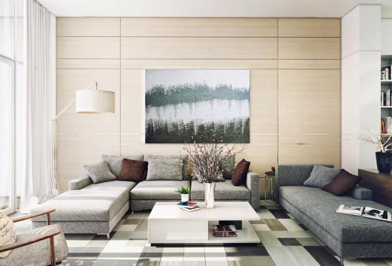 Гостиная 18 м² современный стиль 2