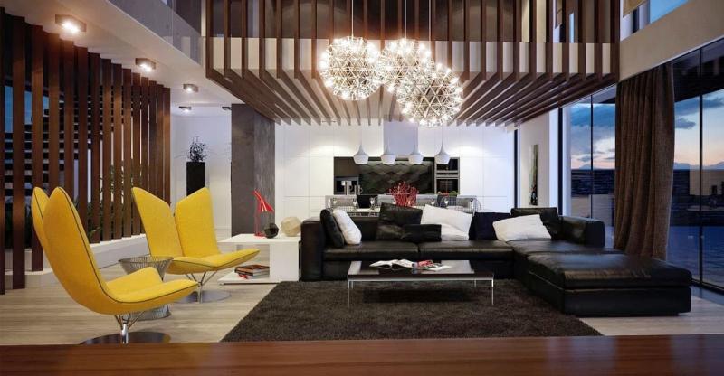 Гостиная 18 м² современный стиль 4