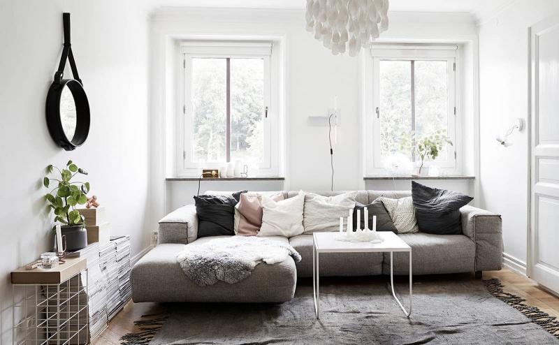 Гостиная 18 м² с угловым диваном 3