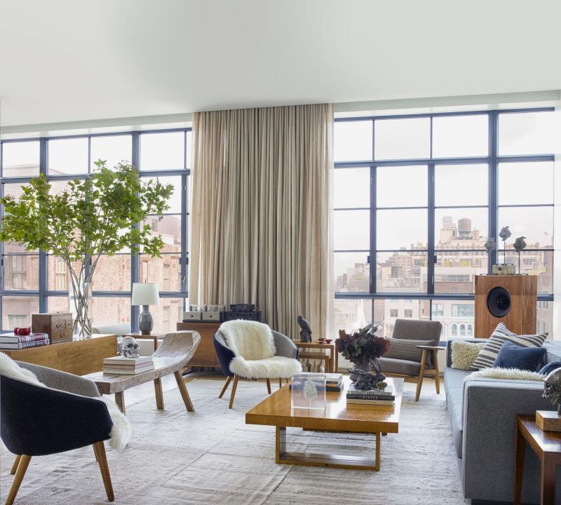 18 м² Гостиная в скандинавском стиле 4