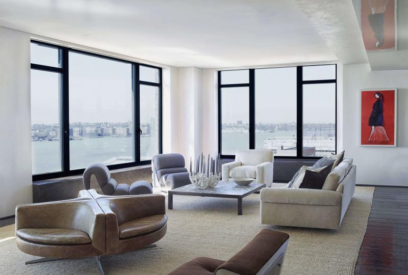 Гостиная 18 м² минималистский стиль 2
