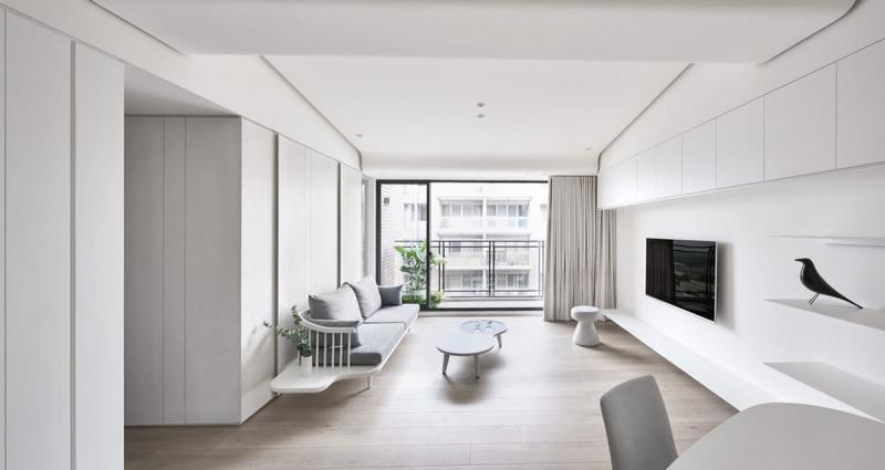 Гостиная 18 кв.м., минималистский стиль 4