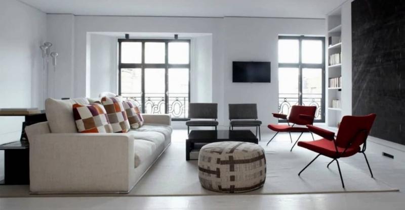 Гостиная 18 кв.м. минималистский стиль 6
