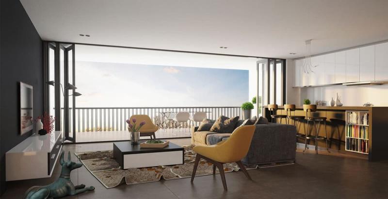 Гостиная 18 кв.м. с балконом 3