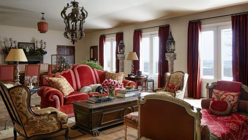 Красная гостиная 18 м² 1