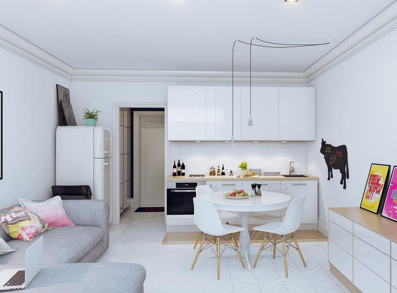 Кухня-гостиная 18 кв. м 4