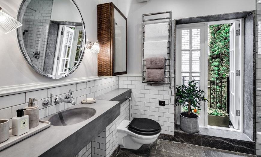 Ванная комната в стиле лофт.
