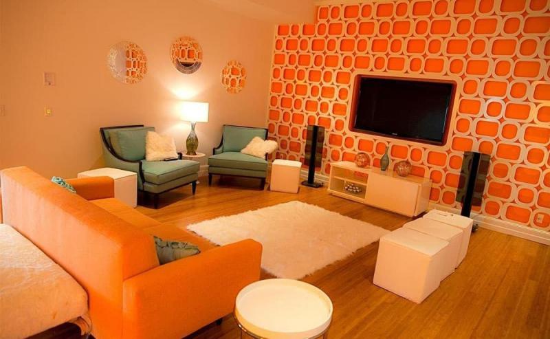 Оранжевая гостиная 18 кв.м. 1