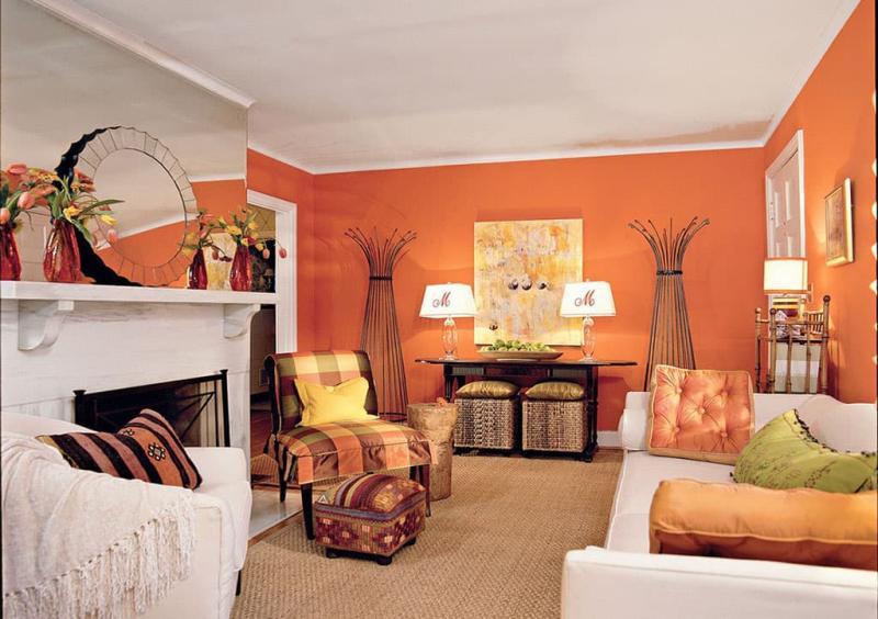 Оранжевая гостиная 18 м 4