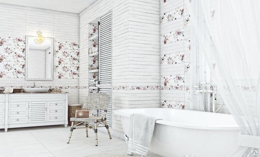 Ванная комната в провансальском стиле.