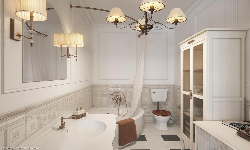 Ванная комната в прованском стиле.