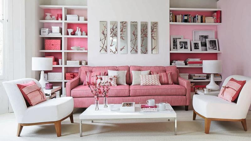 Розовая гостиная 18 кв.м 2