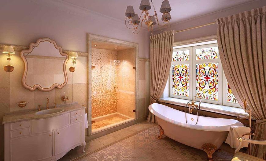 ванна с окном