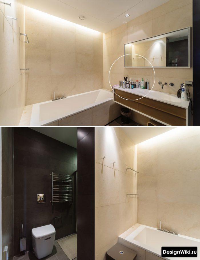Современная ванная комната в стиле минимализма.
