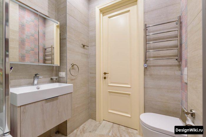 современный яркий дизайн ванной комнаты