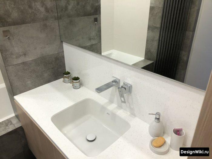 Современный встроенный смеситель для раковины в ванной комнате