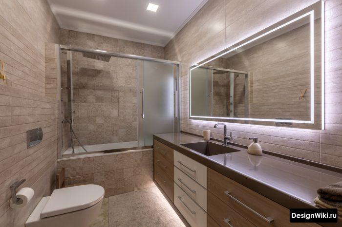 акриловая столешница для ванной комнаты