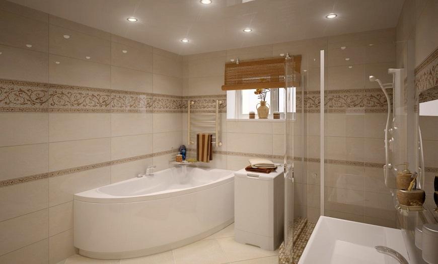 Стильная угловая ванна.
