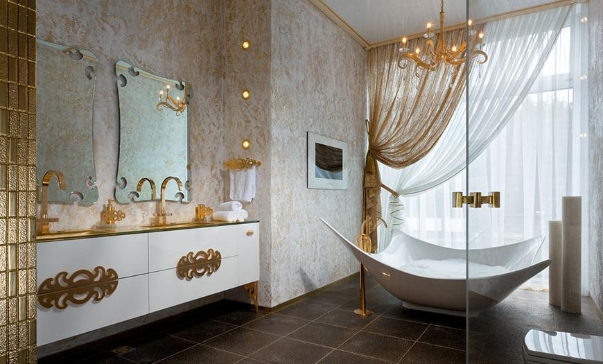 Золотая ванная комната.